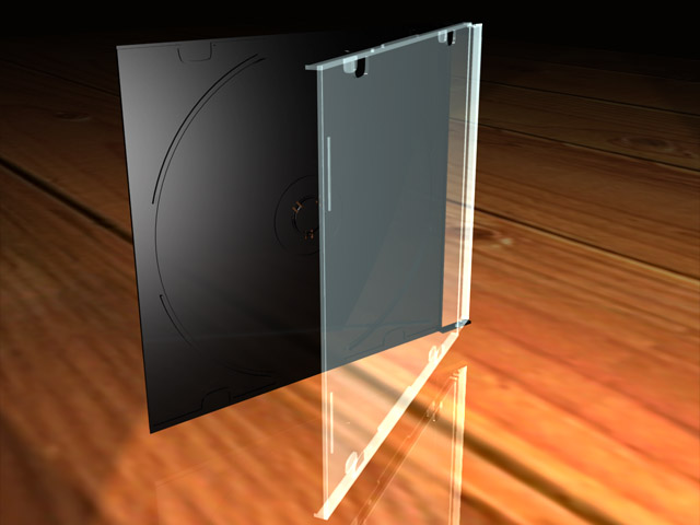 CD Case Opened 3d model jpeg image