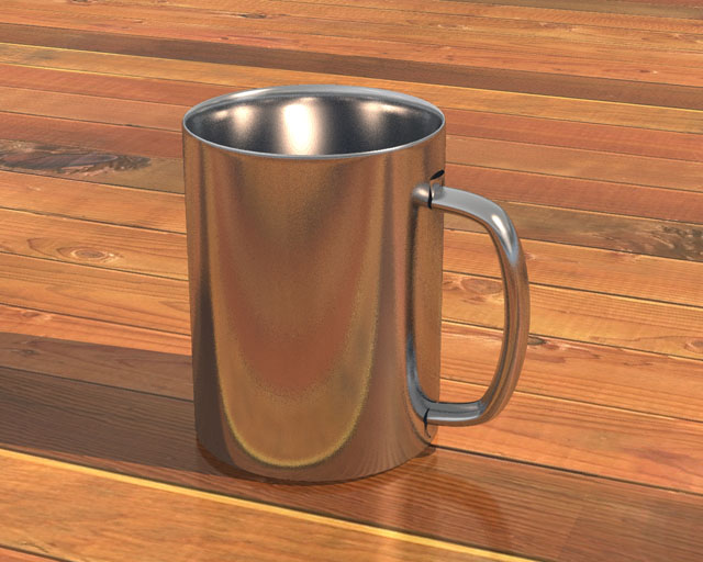 Chrome Cup 3d model jpeg image
