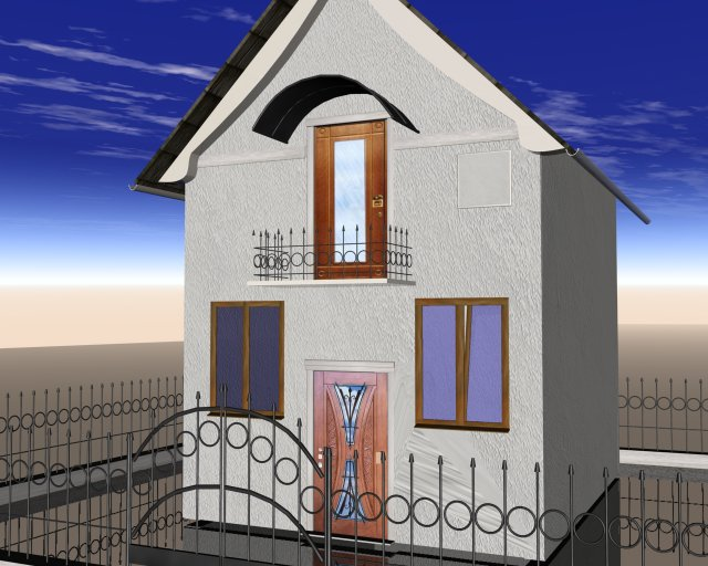 3d models galery small house House 3d model