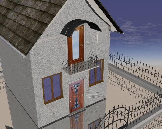 Small house 3d model jpeg image