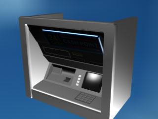 3d model atm банкомат кредитная карточка.