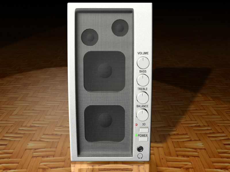 Speaker 3d model jpeg image