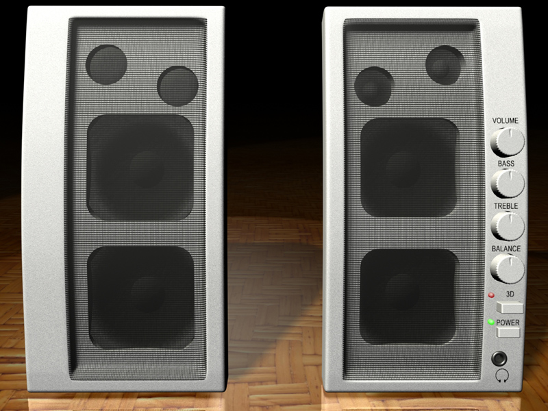 Speakers 3d model jpeg image